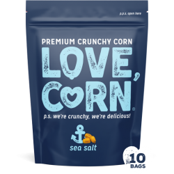 Love Corn - Sea Salt - 10 x 45g