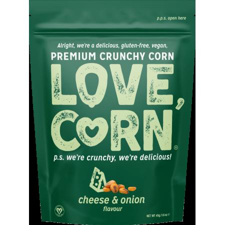 Love Corn - Cheese & Onion - 10 x 45g
