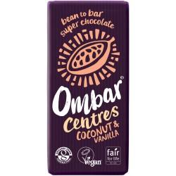 Ombar Raw Organic Chocolate - Coconut & Vanilla Chocolate 10 x 35g