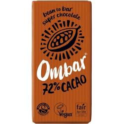 Ombar Raw Organic Chocolate - 72% Dark Chocolate  10 x 35g