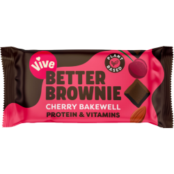 Vive Better Brownie - Cherry Bakewell - 15 x 35g