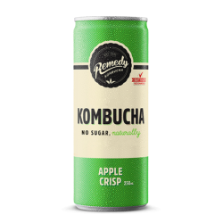 Remedy Kombucha Apple Crisp - 12 x 250ml