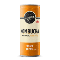 Remedy Kombucha Ginger & Lemon - 12 x 250ml