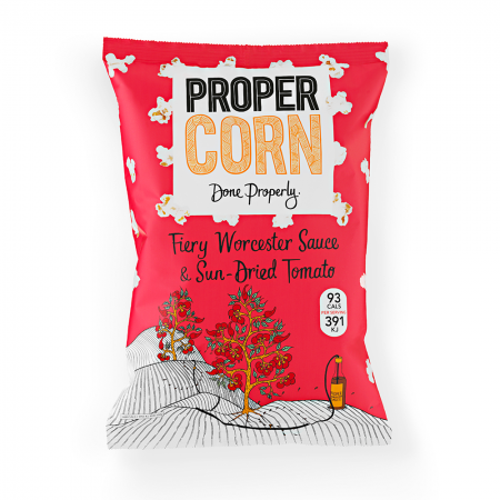 Propercorn Fiery Worcester Sauce & Sun-Dried Tomato 12 x 80g
