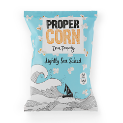 Propercorn Lightly Sea Salted Popcorn 8 x 80g