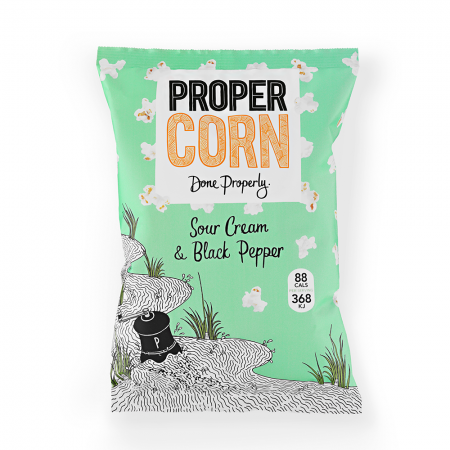 Propercorn Sour Cream & Black Pepper Popcorn 12 x 80g