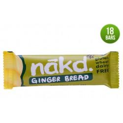 Nakd Ginger Bread Gluten Free Bar 18 x 35g