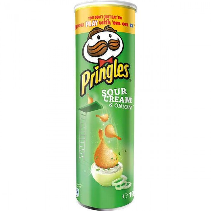Pringles Sour Cream & Onion Crisps 6 x 190g