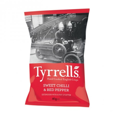 Tyrrell's Sweet Chilli & Red Pepper 24 x 40g
