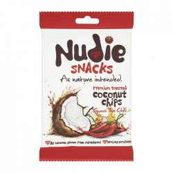 Nudie Toasted Sweet Thai Chilli Coconut Chips - 12 x 35g