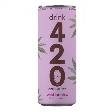 Drink 420 - CBD Infused Wild Berries - 12 x 250ml