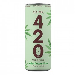 Drink 420 - CBD Infused Elderflower Lime - 12 x 250ml