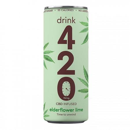 Drink 420 - CBD Infused Elderflower Lime - 12 x 250ml