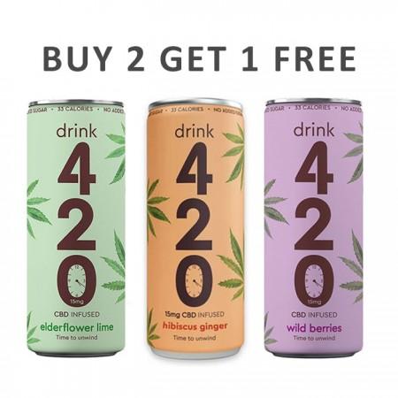 Drink 420 CBD - Buy 2 Get 1 Free - 12 x 250ml