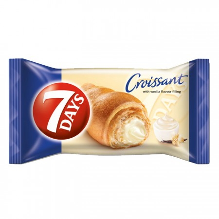 7-Days Croissant with Vanilla Filling - 20 x 80g
