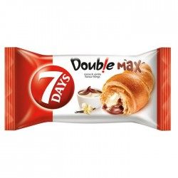 7-Days Croissant with Chocolate & Vanilla Filling - 20 x 80g