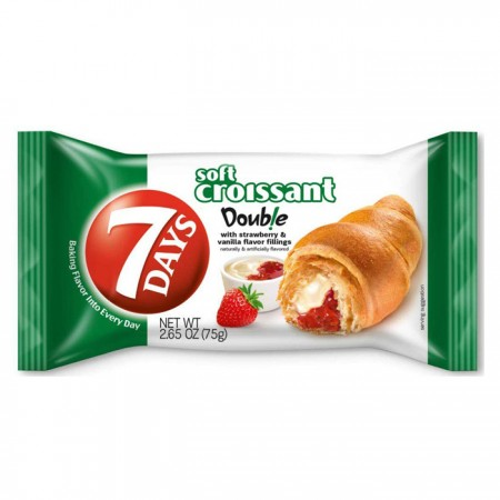 7-Days Croissant with Strawberry & Vanilla - 20 x 80g