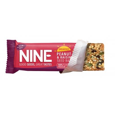 9Nine Brand Breakfast Peanut & Raisin 16 x 50g