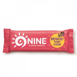 9Nine - Breakfast Peanut & Raisin -  16 x 50g