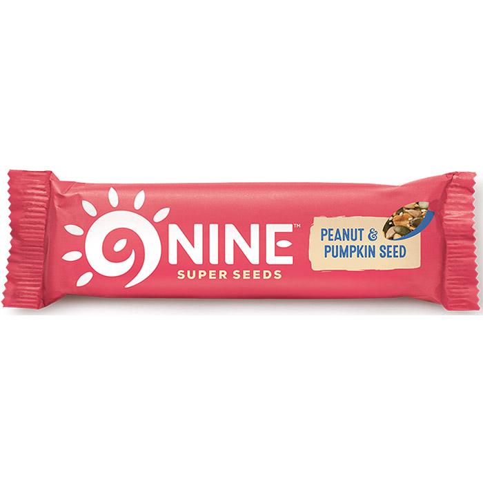 9nine brand breakfast peanut pumpkin 16 x 50g for Food bar manufacturers uk