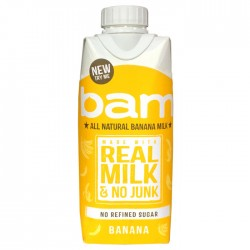 All Natural Bam Real Milk Banana - 12 x 330ml