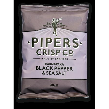 Pipers Karnataka Black Pepper & Sea Salt 24 x 40g