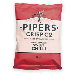 Pipers Biggleswade Sweet Chilli Crisps 24 x 40g