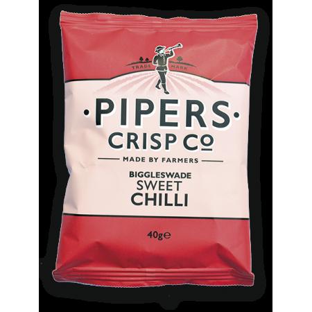 Pipers Biggleswade Sweet Chilli Crisps 24 x 40g