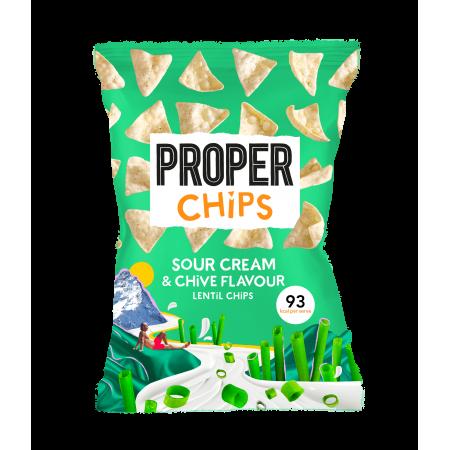 Proper Chips Lentil Chips Sour Cream & Chive  (8x85g)