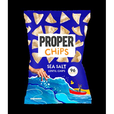 Proper Chips Lentil Chips Sea Salt (24x20g)