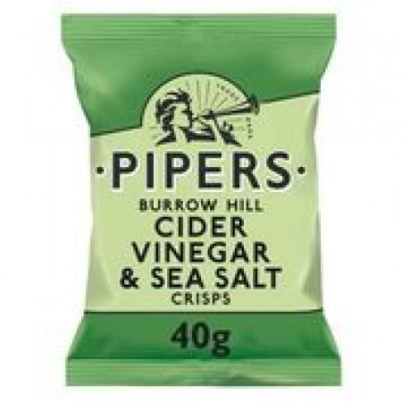 Pipers Burrow Hill Cider Vinegar & Sea Salt Crisps 24 x 40g