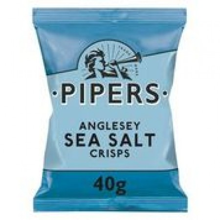 Pipers Anglesey Sea Salt Crisps 24 x 40g