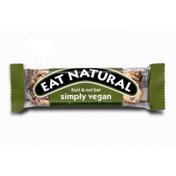 Eat Natural Simply Vegan With Peanuts, Coconut and Chocolate Bar 12 x 45g