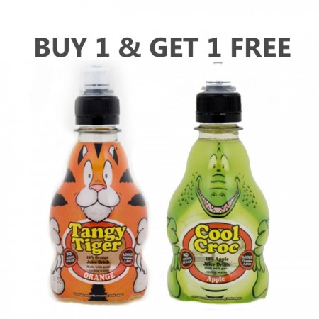 Tangy Tiger & Cool Croc   12 x 270ml - Buy Any 1 & Get 1 Free