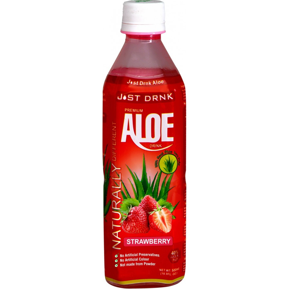 just drink premium strawberry aloe drink 12 x 500ml. Black Bedroom Furniture Sets. Home Design Ideas
