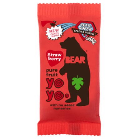 Bear Yoyo Strawberry Fruit Roll 18 x 20g