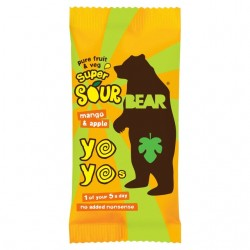 Bear Yoyo Super Sour Mango & Apple Fruit Rolls 18 x 20g