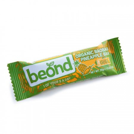 Beond - Organic Baobab Pineapple Bar 18 x 35g
