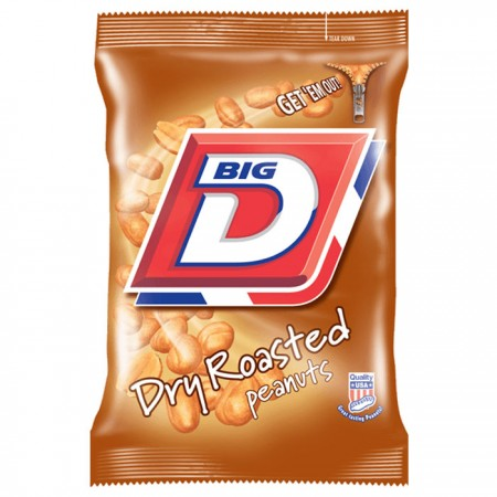 Big D Dry Roasted Peanuts (24 x 50g Bags)