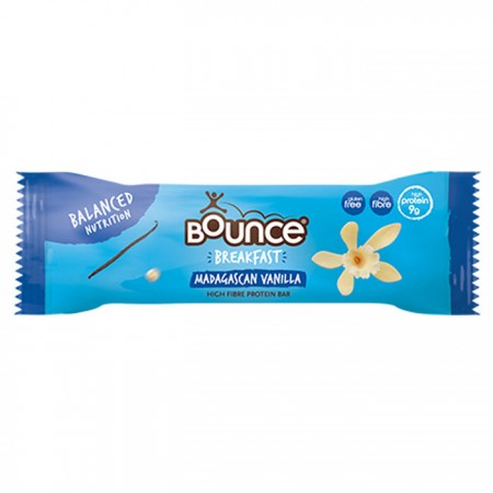 Bounce Madagascan Vanilla Breakfast Bars - 20 x 45g
