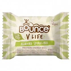 Bounce Energy Balls V Life Almond and Spirulina 12 x 49g