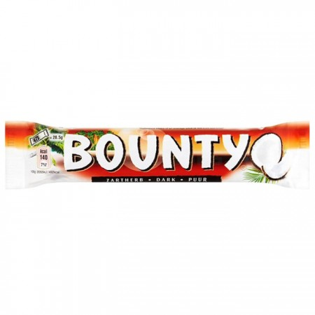 Bounty Dark Coconut Chocolate Bars - 24 x 57g