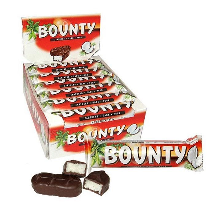 Bounty Dark Coconut Chocolate Bars   Bounty UK Suppliers