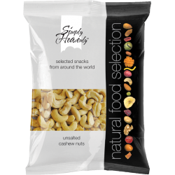 Simply Heavenly Raw Cashews 12 x 75g