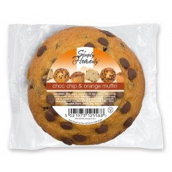 Simply Heavenly Muffin Choc Chip & Orange 24 x 120g