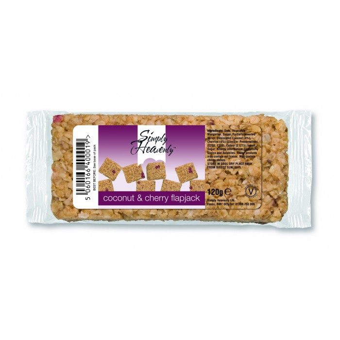 Simply Heavenly Flapjack Coconut & Cherry 15 x 120g
