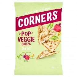 Corners Pop Veggie Crisps | Sea Salt  (18 x 28g)