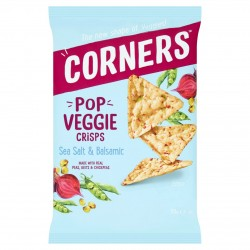 Corners Pop Veggie Crisps | Salt & Balsamic  (18 x 28g)