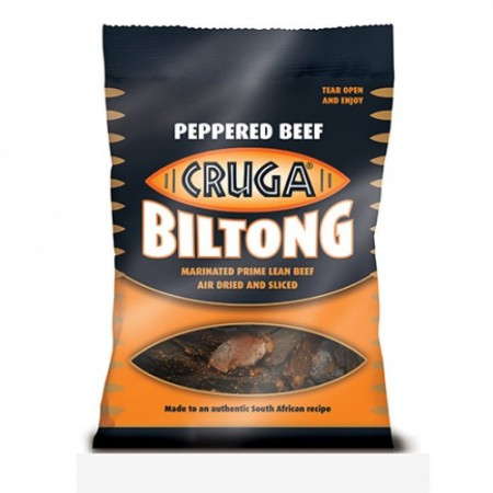 Cruga Biltong Peppered Beef 10 x 40g