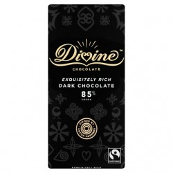 Divine Chocolate - 85% Dark chocolate - 15 x 90g